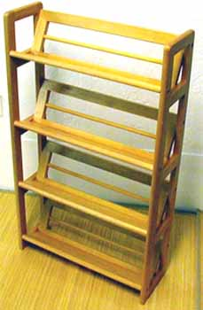 CD/Video Rack 4 Tiers