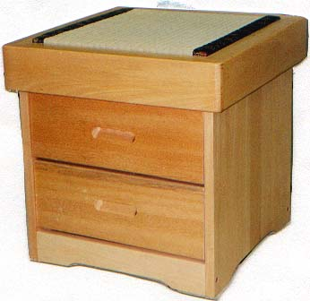Tatami Night Stand w/2 Drawers